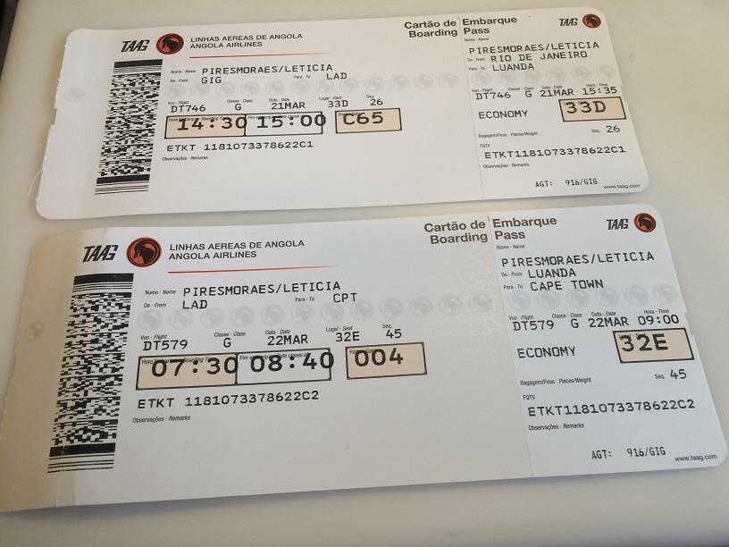 viajar com a taag - boarding pass